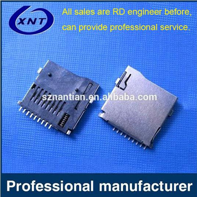 TF card holder TF/microSD push outer tape detection