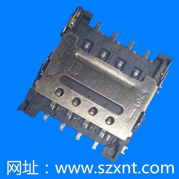 上海microSim 8Pin clamshell 1.5 high
