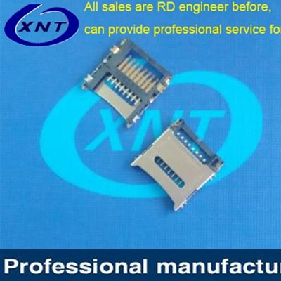 SIM card holder microSD clamshell type 1.85 high