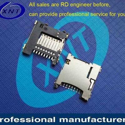 SIM card connector 503182-xx42 TF/microSD push type