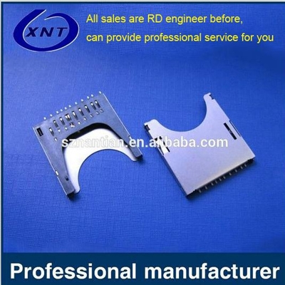 TF card holder SD PUSH 2.75mm high solderband detection
