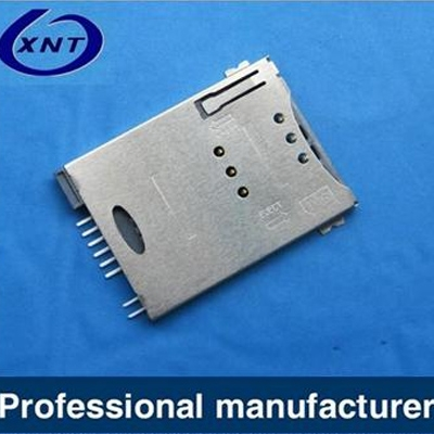 SIM card push type 6+2pin with CD