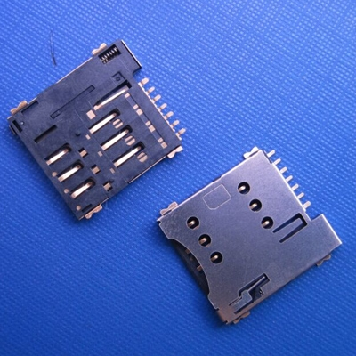 江苏SIM card holder with push type 6pin microSim connector