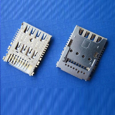 SIM card holder microSim8Pin+TF8Pin No-push (H=2.26)