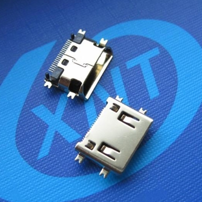 HDMI C TYPE Female Sinking 1.5mm (Short Body) Oblique