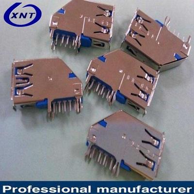 上海USB3.0 side insert blue plastic DIP