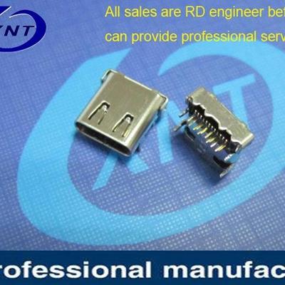 USB terminal DIP+SMT shell pitch 4.40