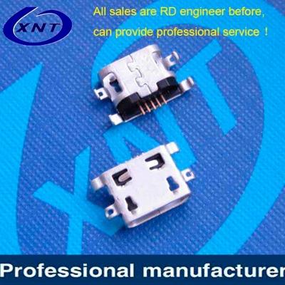 上海Micro USB B type 5pin without crimping 1.60mm