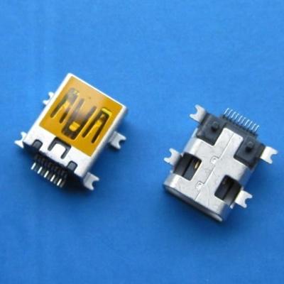 miniUSB AB type 10pin Female (Soldering feet: SMT, Housing: SMT)