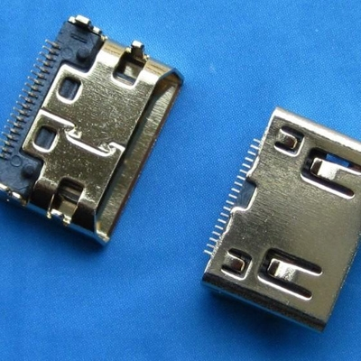 HDMI C TYPE Female SMT type (DIP center distance 3.5mm) Oblique
