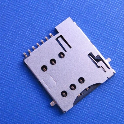 microSim push type 6+1pin with CD can be reversed to the PCB