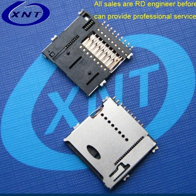 TF card seat PUSH 1.4mm high solderband detection / microSD push high 1.4mm outer strip detection